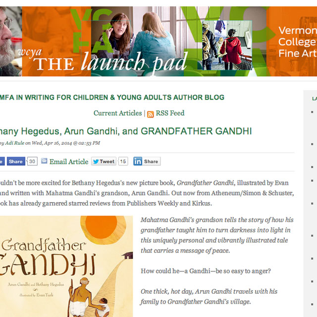 Vermont College of Fine Arts' WCYA The Launchpad author blog
