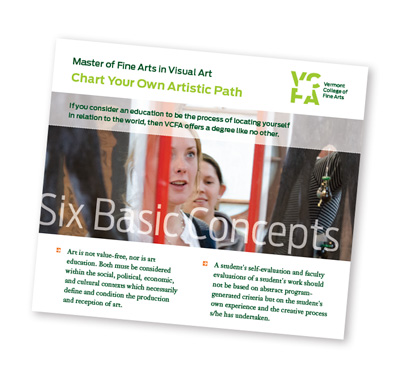 Six Basic Concepts of the MFA in Visual Art at Vermont College of Fine Arts